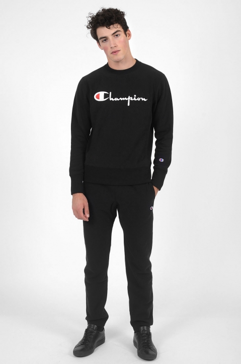 CHAMPION Logo Black Joggers 3
