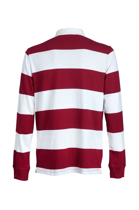 CHAMPION Maroon Striped Polo-Shirt 1