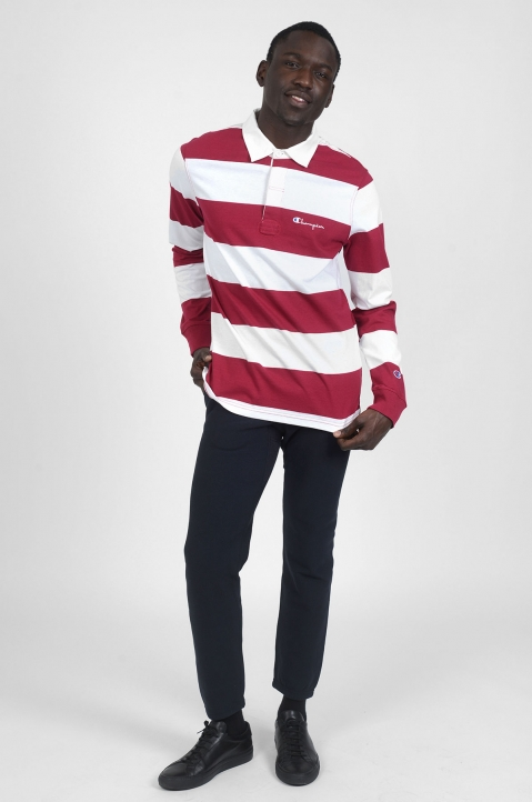 CHAMPION Maroon Striped Polo-Shirt 2