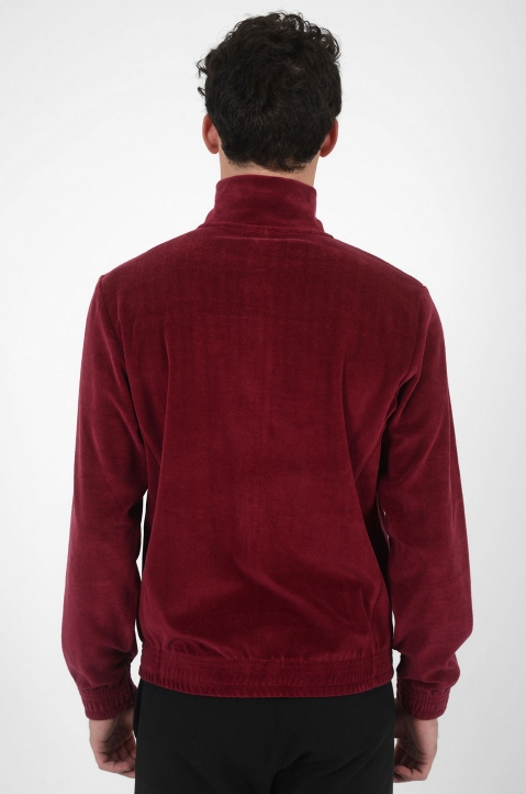 CHAMPION Velour Burgundy Jacket 2