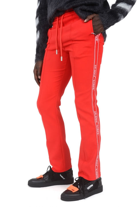OFF-WHITE Red Slim Trackpants 0
