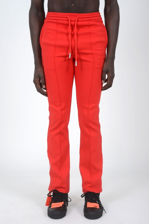 OFF-WHITE Red Slim Trackpants 1