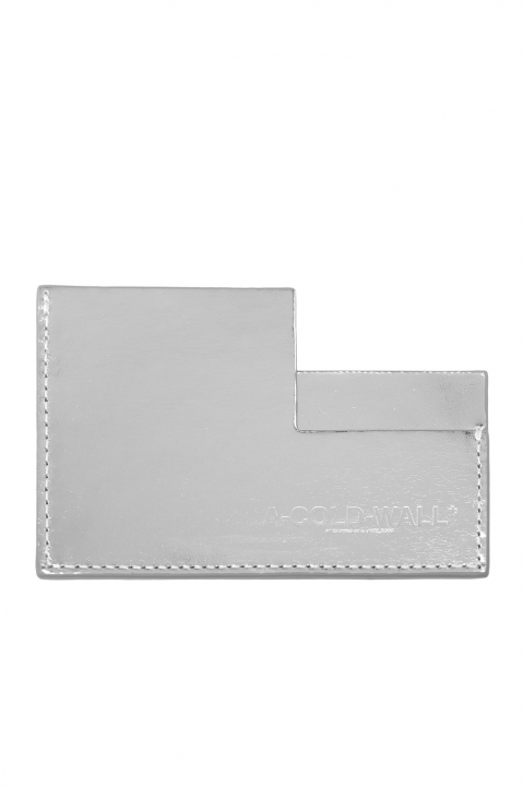 A-COLD-WALL Silver Angle Card Holder 0