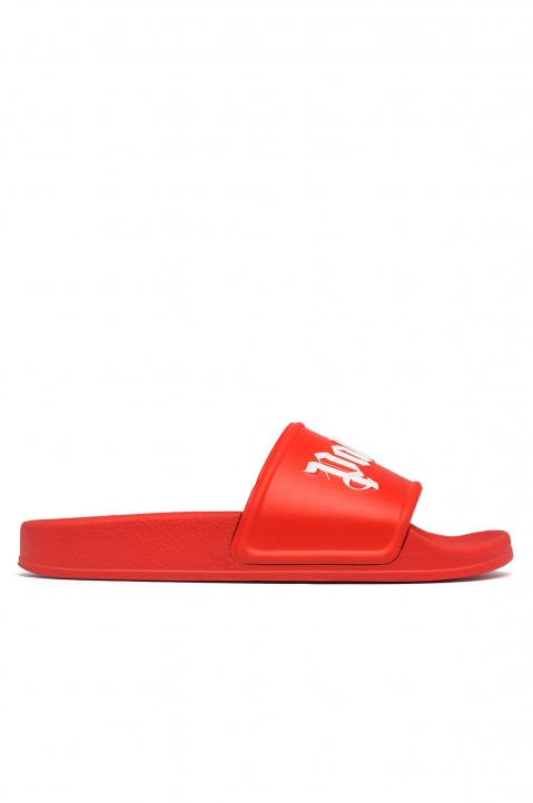 PALM ANGELS Red Pool Slides 0