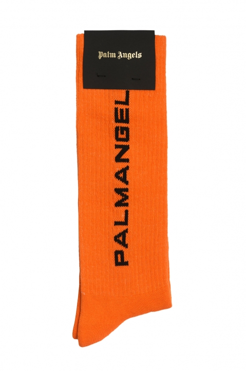 PALM ANGELS New Logo Prison Orange Socks 0