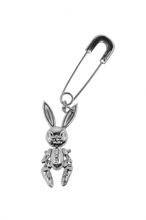 AMBUSH Silver Inflatable Bunny Earring 0