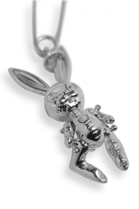 AMBUSH Silver Inflatable Bunny Earring 2