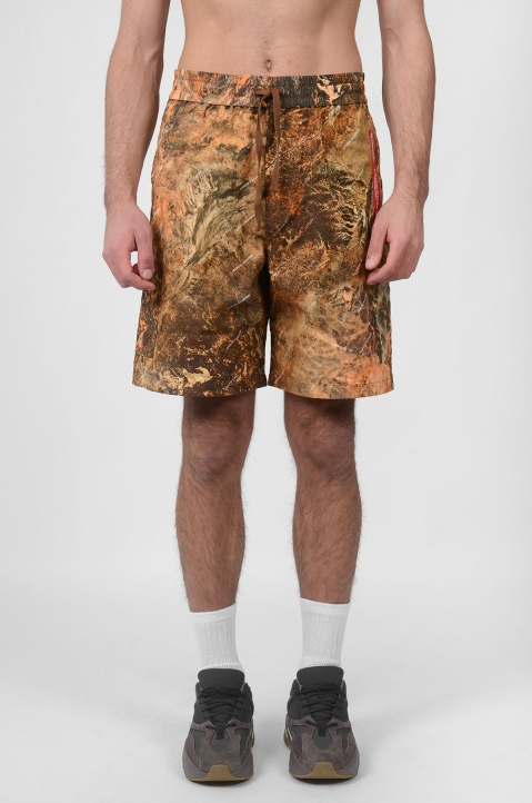 HERON PRESTON Camo Red Tape Shorts 1