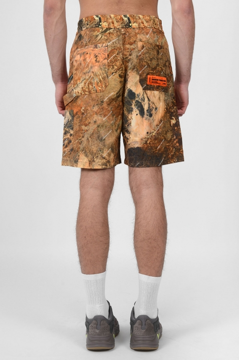 HERON PRESTON Camo Red Tape Shorts 2