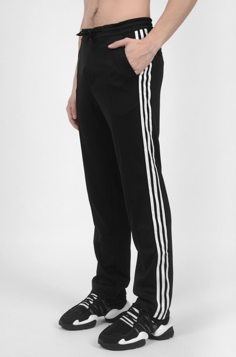 Y-3 3 Stripes Black Trackpants 2