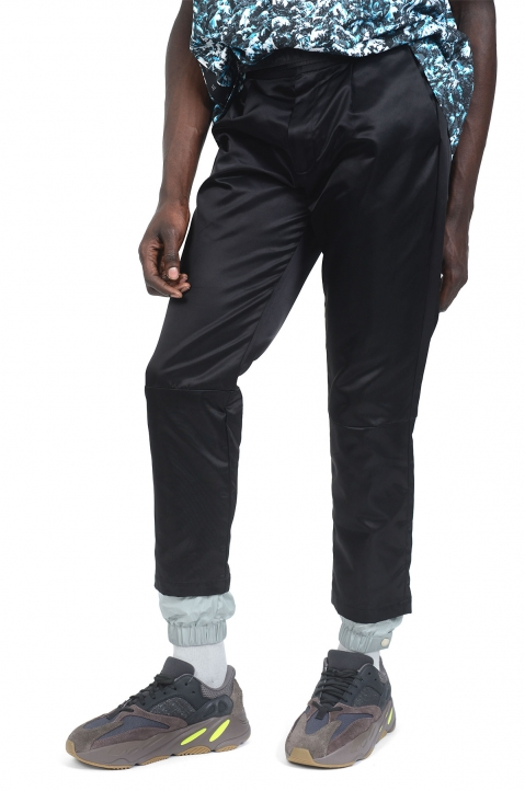 PALM ANGELS New Classic Black/Grey Trousers 0