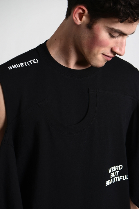 BMUET(TE) Double Layer Black T-shirt 3