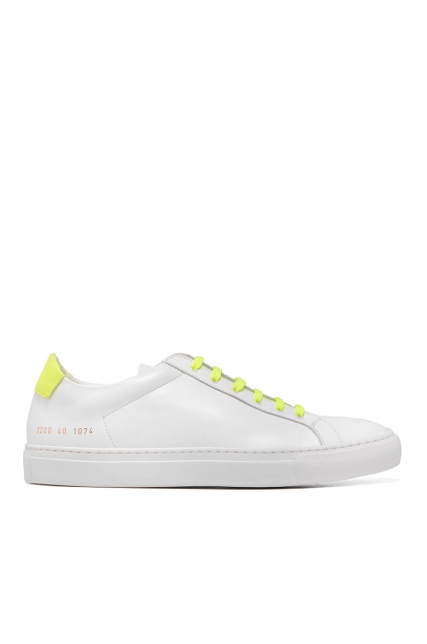COMMON PROJECTS Retro Flue Yellow White Sneakers 0
