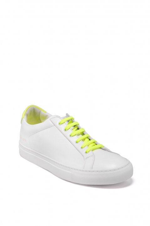 COMMON PROJECTS Retro Flue Yellow White Sneakers 1