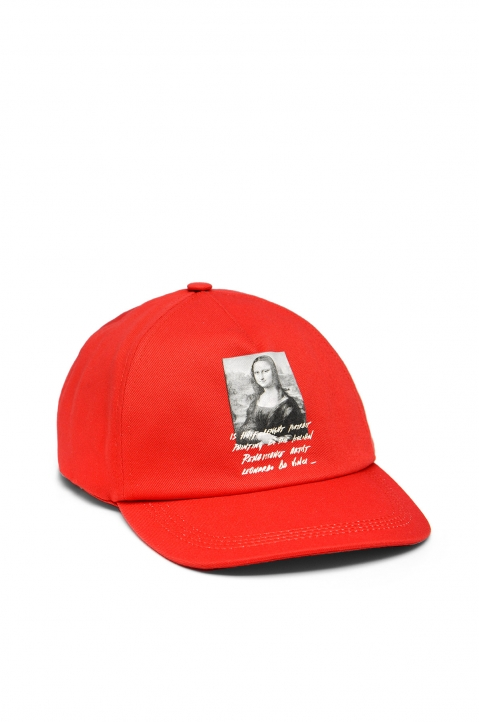 OFF-WHITE Monalisa Red Cap 0