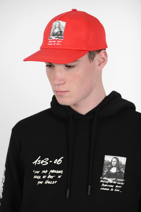OFF-WHITE Monalisa Red Cap 2